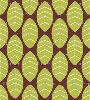 leaves in brown