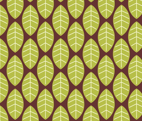 leaves in brown fabric by mytinystar on Spoonflower - custom fabric