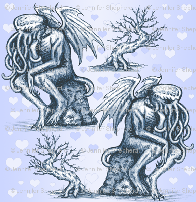 Cthulhu in Love (Blue 2)
