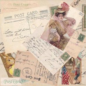 postcard pile
