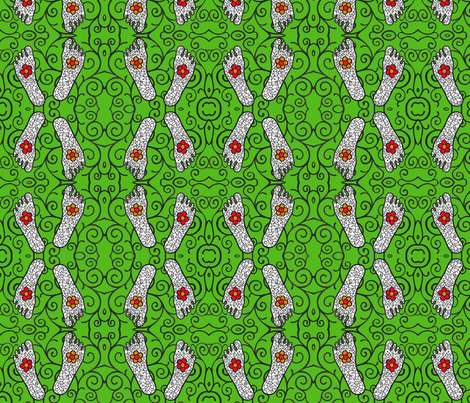 Walkin' the garden fabric by samanthaheather on Spoonflower - custom fabric