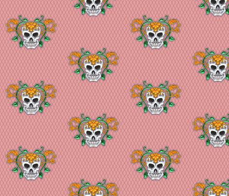 Skull 4 fabric by jadegordon on Spoonflower - custom fabric