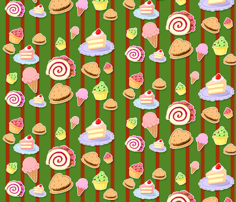 Sweets 1 fabric by jadegordon on Spoonflower - custom fabric