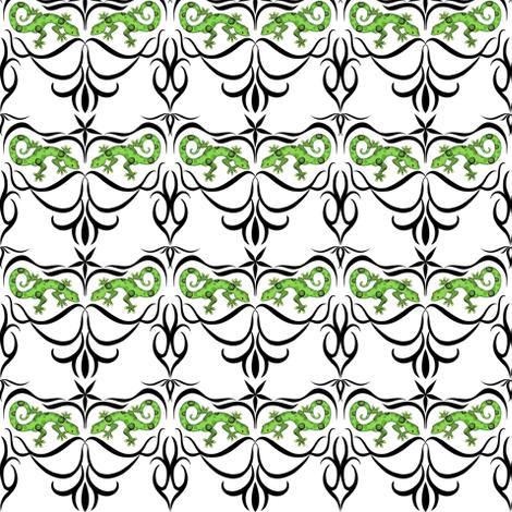 a_tribe_of_gecko_jpg fabric by vo_aka_virginiao on Spoonflower - custom fabric