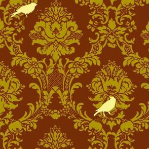 Forest Songbird Damask
