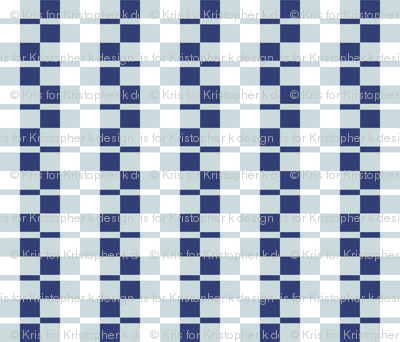 Deco - Indigo Check