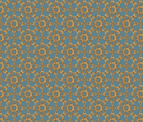Rosettes Petite - Duck Egg Blue fabric by kristopherk on Spoonflower - custom fabric
