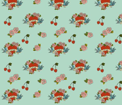 Tattoo Love fabric by jenimp on Spoonflower - custom fabric