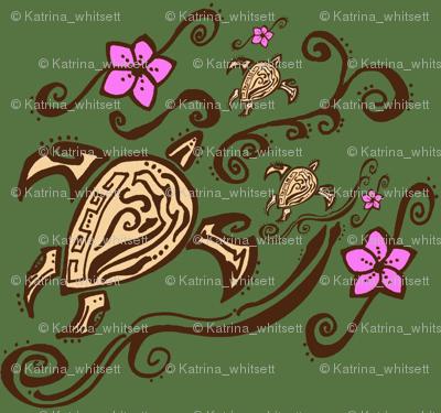 hawaiin sea turtle tattoo