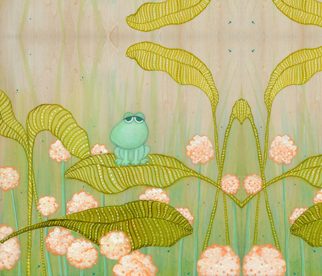 spring Frog fabric by vina on Spoonflower - custom fabric