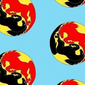 running horse yin yang