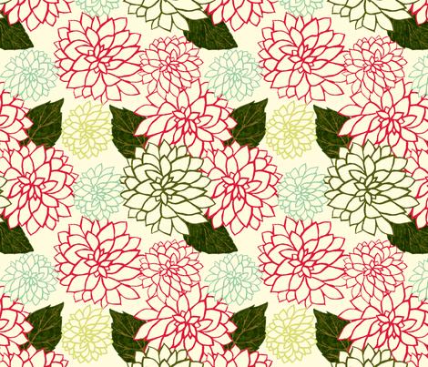 Dahlia Variety fabric by cksstudio80 on Spoonflower - custom fabric