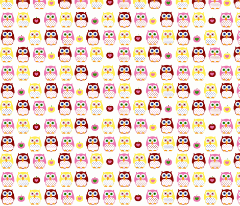 summer owls-ch fabric by katharinahirsch on Spoonflower - custom fabric