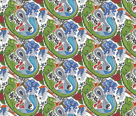 Tat Attack!!! fabric by ceanirminger on Spoonflower - custom fabric
