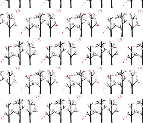 cherry blossom fabric by leonielovesyou on Spoonflower - custom fabric
