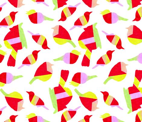 geometric birds fabric by leonielovesyou on Spoonflower - custom fabric