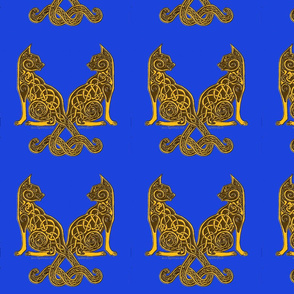 celt cats 6 gold on blue