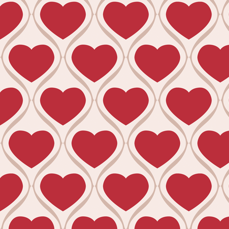 Ogee Heart RBM fabric by jazilla on Spoonflower - custom fabric