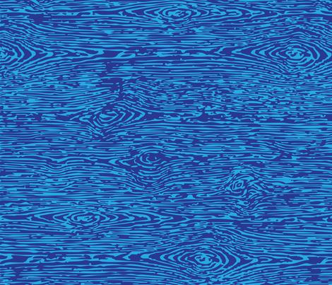 Faux Bois: Blue on Blue fabric by sammyk on Spoonflower - custom fabric