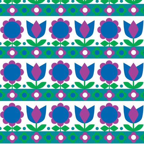 Danish Tulip Blue fabric by aliceapple on Spoonflower - custom fabric