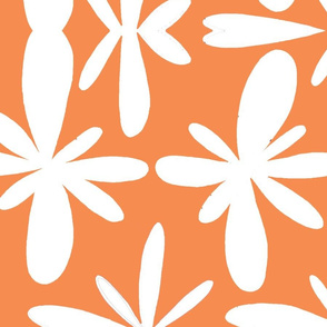 orange and white scandanavian flowers