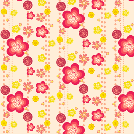 Retro Floral Fun! - © PinkSodaPop 4ComputerHeaven.com fabric by pinksodapop on Spoonflower - custom fabric
