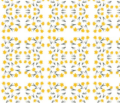 Daffodils fabric by kdmade on Spoonflower - custom fabric