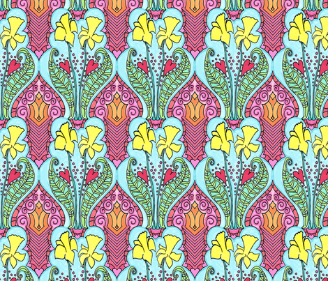 Daffy O' Dillys fabric by periwinklepaisley on Spoonflower - custom fabric