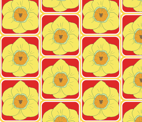 daffodil party fabric by katrina_whitsett on Spoonflower - custom fabric