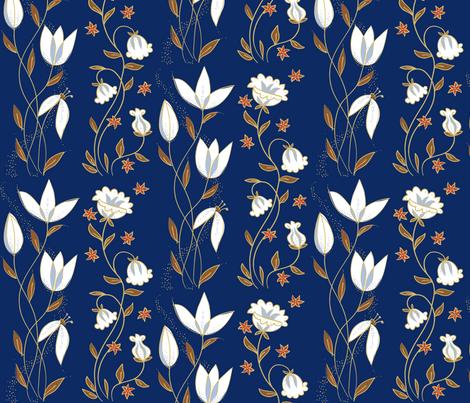 tulip_blue fabric by antoniamanda on Spoonflower - custom fabric
