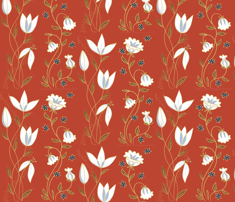 tulip_red fabric by antoniamanda on Spoonflower - custom fabric