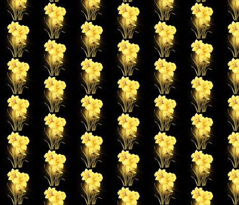Golden Daffodils  fabric by pojeda on Spoonflower - custom fabric