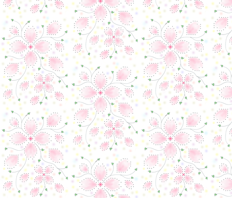 Pinky Pink Sakura fabric by dorolimited on Spoonflower - custom fabric