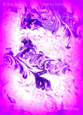 Liquid Dream Feather Kitty pink