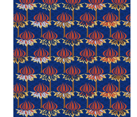 spoon_flower_art_nouveau_copy fabric by stefcos on Spoonflower - custom fabric