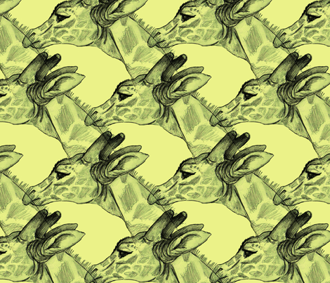 giraffes fabric by artbybaha on Spoonflower - custom fabric