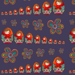 Russian dolls stacked-shelving marine