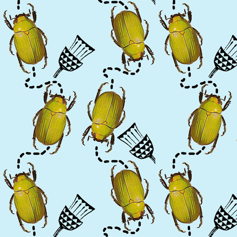 Beetling About fabric by nalo_hopkinson on Spoonflower - custom fabric