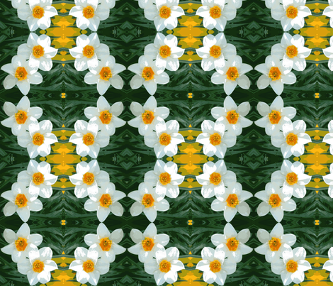 Daffodil Garland D-12 fabric by khowardquilts on Spoonflower - custom fabric