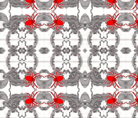 Jamjax  Spiders Spinning fabric by jamjax on Spoonflower - custom fabric
