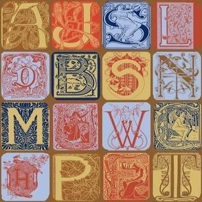 Art Nouveau Alphabet-1