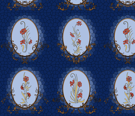 Nouveau_stained_glass2 fabric by shirlene on Spoonflower - custom fabric