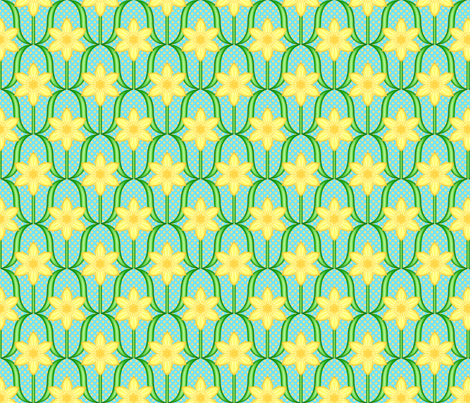 Dotted Daffodils fabric by shala on Spoonflower - custom fabric