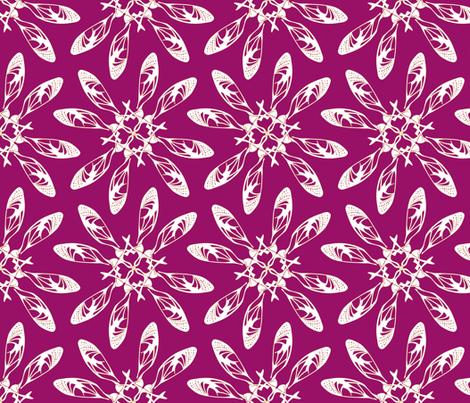 seedflowella red fabric by maeula on Spoonflower - custom fabric