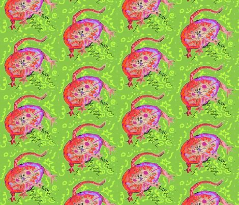 Eggbert The Cat fabric by jellybeanquilter on Spoonflower - custom fabric