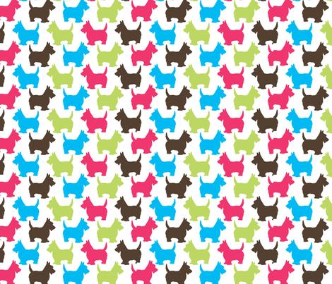 Scotties print fabric by malien00 on Spoonflower - custom fabric