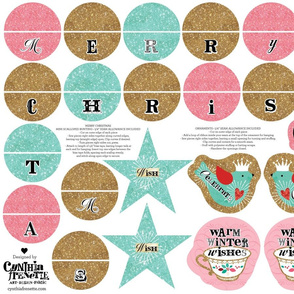 Shabby Glittery Ornaments and Mini Bunting