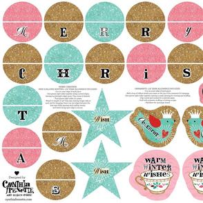 Shabby Glittery Ornaments and Mini Bunting