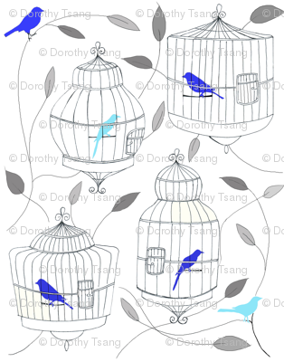 Blue Birds and Cages