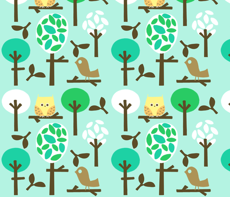 natures forest fabric by emilyb123 on Spoonflower - custom fabric